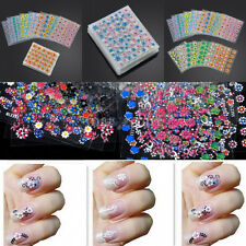 50 SHEETS NAIL ART STICKER WATER TRANSFER FLOWER STICKERS DECALS TIPS 3D DECOR