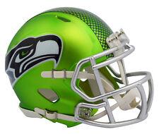 """2017 """"BLAZE"""" Edition SEATTLE SEAHAWKS NFL Riddell SPEED Mini Football Helmet"""