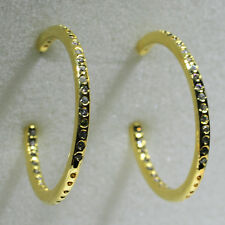 18K Yellow Gold Filled CZ Women Fashion Jewelry Stud Dangle Hoop Earrings E0256