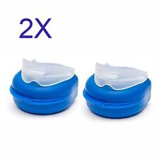 2pcs Anti Snore Stop Snoring Silicone Tray Mouth Piece Guard Sleep Nose Stopper