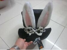 WONDERLAND EASTER RABBIT HAT, ALICE THEMED FANCY DRESS PARTY COSTUME MAD HAT