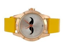 Reloj BIGOTES bigote color AMARILLO Moustache Mustache watch Yellow A1520