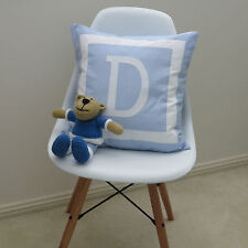 Boys/Baby's Personalised Cushion Cover - Monogram Style Initial - Choose Colour