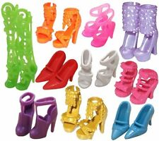 Lot 10 Pairs Set Doll Shoes High Heel Shoes Sandals Toy Clothes Dress for Barbie