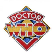 Doctor Who Classic Logo Embroidered Patch Sew / Iron-on 9cm Badge