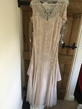 Frock And Frill Blush Beaded Long Dress Size 8