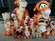 Large lot of 16 Disney  Winnie the Pooh Tigger Plush stuffed Animals!