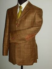 """ARTHUR BELL PURE NEW WOOL CHECK BLAZER JACKET COAT WITH ELBOW PATCHES 50EU 42"""""""