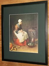 Kitchen Maid by Chardin, 20''x16'' frame, Portrait Masters paintings
