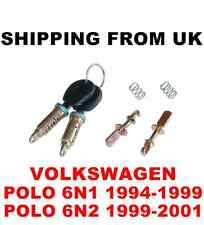 DOOR LOCK SET FRONT LEFT RIGHT 2 BARREL + 2 SAME KEYS VW POLO MK3 6N1 6N2  56mm