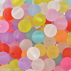 "200PCs Acrylic Spacer Beads Frosted Round Ball Mixed 10mm ( 3/8"") Dia."