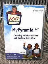 NUTRITION & HEALTH PYRAMID documentary DVD kids grade-school activities