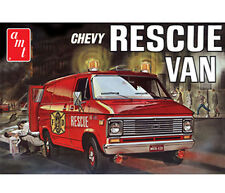 AMT 1975 Chevy Fire Rescue Van model kit 1/25  molded in white
