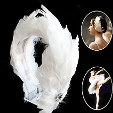 Swan Feather Headpiece Bridal Ballerina Wedding Bridesmaids Headband