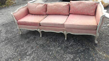 Antique hand Painted French Style Large Settee or Love Seat Chaise Lounge