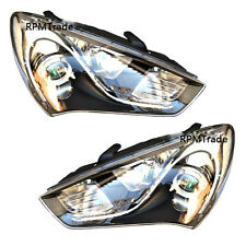 Genuine OEM FL Head Light Lamp L/R Compete Kit for Hyundai 2014+ Genesis Coupe