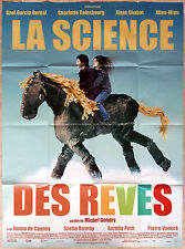 2006 THE SCIENCE OF SLEEP Gainsbourg Gondry Bernal French 47x63 movie poster