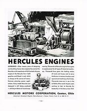 1936 BIG Vintage Hercules Motors Engine Industrial Machinery Art Print Ad