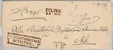 57046 - LOMBARDO VENETO - STORIA POSTALE - BUSTA PREFILATELICA da FELTRE 1851