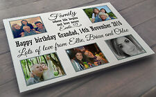 Birthday or Christmas large personalised wooden plaque sign, gift for Grandad