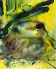 Alfred Kohler Expressionist seltenes abstraktes Aquarell signiert 71