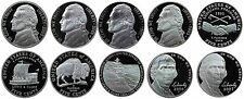 2000-2007 S Complete Set Jefferson Nickel Gem Proof Run 10 Coins US Mint 2000's