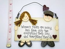 Women's Faults Wall Plaque Gift Ideas for Friends Her Birthdays Mothers Day