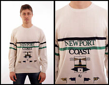 BNWT CIELI DEL NORD Made ITALY Newport Coast Nautical Knitted Cotton Sweater L