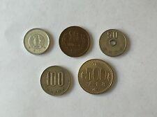 Set 5 coins JAPAN - 1, 10, 50, 100 , 500 yen. Monedas JAPÓN