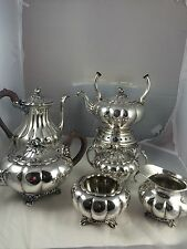 Melon Sheffield Design by COMMUNITY Vintage Silverplate HUGE TEA & COFFEE SVC