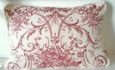 """18"""" x 12"""" Laura Ashley Tuileries  Cranberry  Fabric Cushion Cover ( Piped)"""