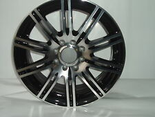 "4 New 15""x6.5 Dezent Shift Shadow Black & Polished Alloy for Ford Audi Renault"