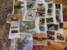 US MILITARY INSIGNIA PATCH SEW ON 27 DIFFERENT CAPTAIN COLONEL ARMY AIR FORCE