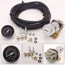 SILVER UNIVERSAL T2 TURBO MANUAL BOOST CONTROLLER WITH GAUGE KIT ADJUSTABLE MBC