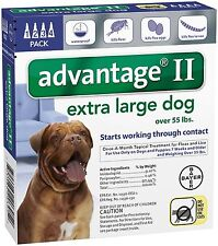 Advantage II for Extra Large Dogs over 55 lbs - 4 Pack - FREE Shipping!