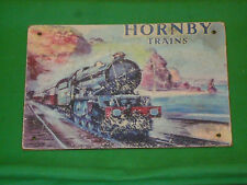 Vintage Rare Enamel Style Hornby Trains Advertising Sign