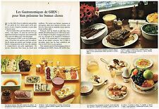 Publicité Advertising 1973 (2 pages) Le Service Table en faience de Gien