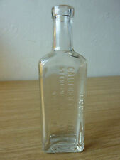 Antique California Fig Syrup Sterling Products Inc Clear Glass Bottle Old Rare