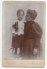 Rare 1890s Cabinet Photo of Mother & her Down Syndrome Son Salt Lake City Utah