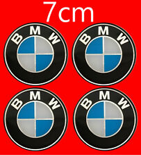 BMW Wheel Trims Center Hub Caps Badge Emblem Sticker 7cm  70mm Set of 4