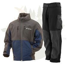 XL  Frogg Toggs Pilot Guide Rain Suit Blue & Slate Gray  Jacket & Black PANTS