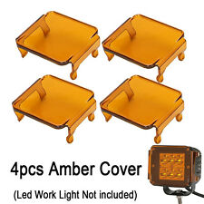 "4pcs Amber LED Cover for Len Work Driving Light Off Road 3x3"" 18W 16W cube pods"