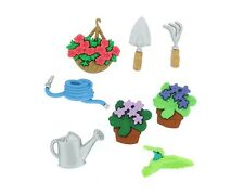 Gardening Flower Pots Hose Watering Can Novelty Buttons Jesse James Theme Pack