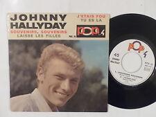 JOHNNY HALLYDAY Souvenirs souvenirs J étais fou POP 4  POX 10 Entierement glacée