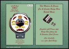 Royale Car Scooter Bar Badge + Fittings - REMEMBER OUR FALLEN WITH PRIDE B1.2701