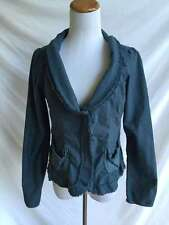 ANTHROPOLGIE LUX Blue Corset Peasant Fitted Jacket L Large Urban Outfitters CUTE