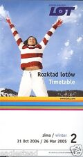 Airline Timetable - LOT Polish - 31/10/04 - Issue 2