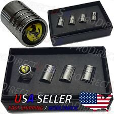 Ferrari Sports Car Logo Valve Stem Caps Emblem Valve Caps Chromed Roundel Tire