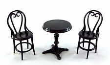 Dolls House Miniature Wrought Iron Patio Cafe Bistro Set 1 Table & 2 Chairs 1:12