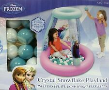 Disney Frozen - Crystal Snowflake Playland - Ball Pit + 15 Balls * GREAT GIFT *
